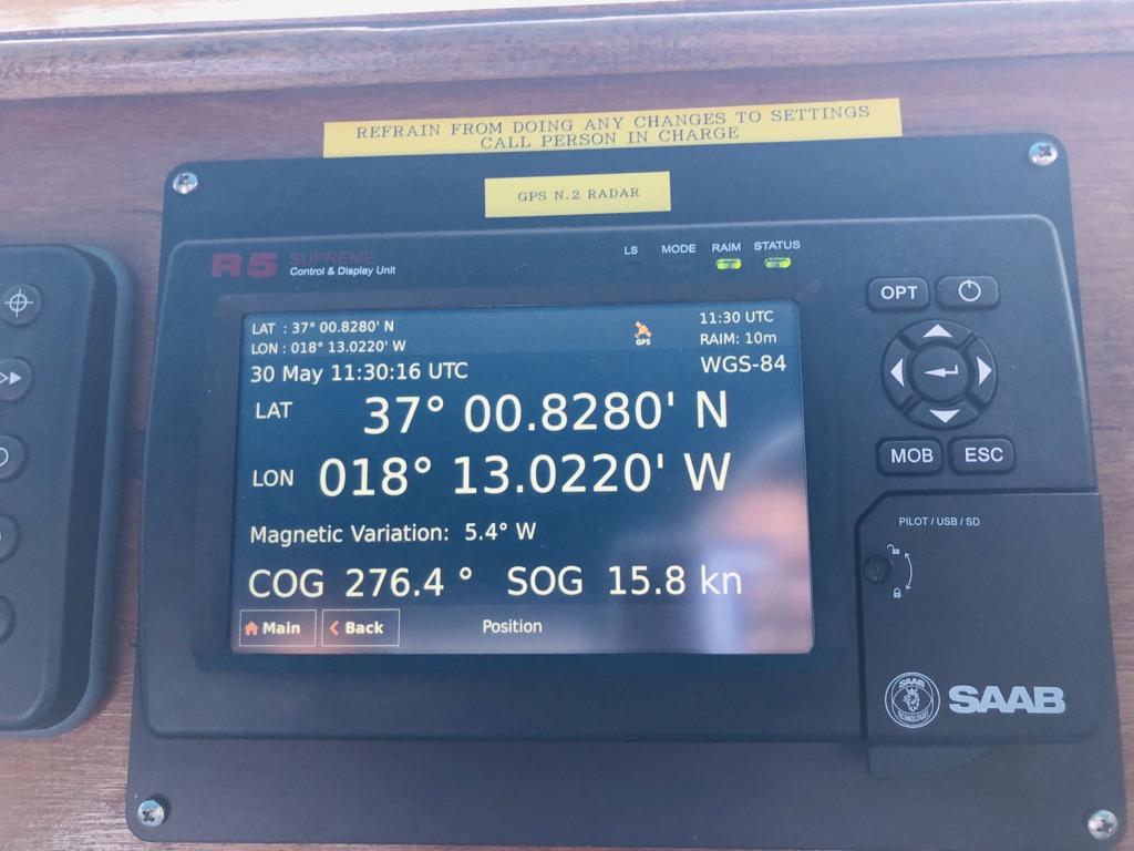 船の速度計