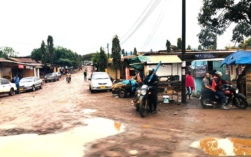 キリマンジャロ付近の村