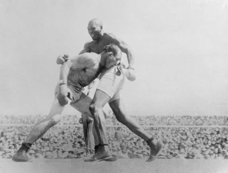 黒人差別時のボクシング試合
