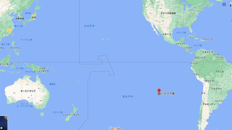 イースター島の場所